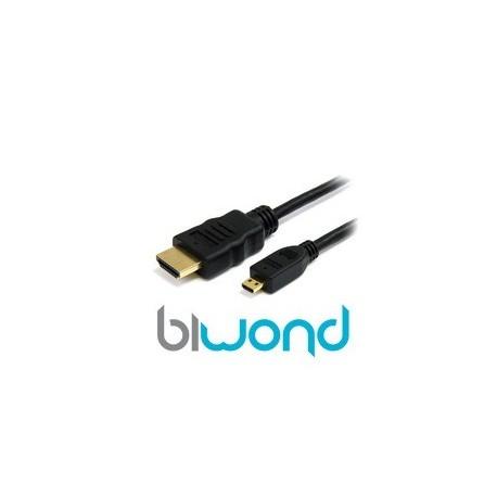 MICRO HDMI A HDMI 1M BIWOND V1.4 (ALTA VELOCIDAD / HEC), A/M-D/M