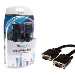 Cable VGA HDB15/M-HDB15/M, 1.8M BIWOND