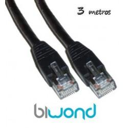 Cable Ethernet 3m Cat 5 BIWOND