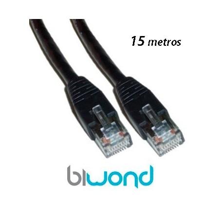 Cable Ethernet 15m Cat 5 BIWOND