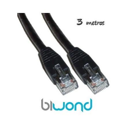 Cable Ethernet 3m Cat 6 BIWOND