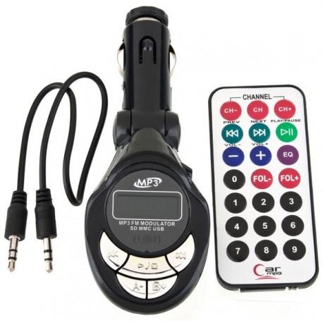 Reproductor MP3 + Transmisor FM Coche 4 en 1