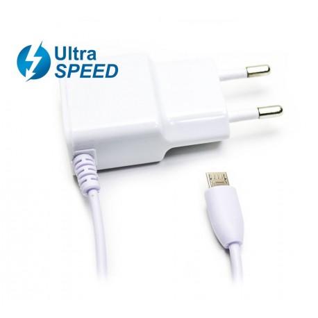 Cargador Micro USB UltraSpeed 2.1A Blanco Biwond