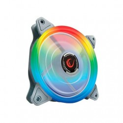 VENTILADOR 120X120 RAMPAGE RGB-15 RAINBOW