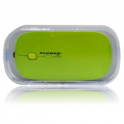 RATON OPTICO KL-TECH VUELO WIRELESS VERDE
