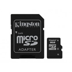 TARJETA DE MEMORIA MICRO SDHC 8GB KINGSTON CL 4 + ADAPT R/W