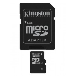 TARJETA DE MEMORIA MICRO SDHC 32GB KINGSTON CL4 + ADAPT R/W