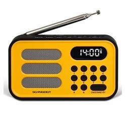 Radio digital schneider handy mini amarillo