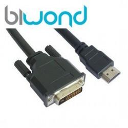 Cable DVI 18+1 a HDMI BIWOND 1.8m