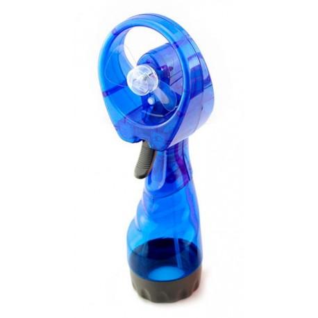 Ventilador Mano con Pulverización de Agua Azul
