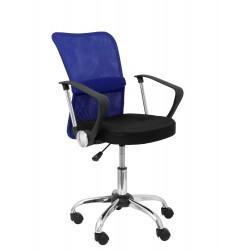 Silla Cardenete respaldo malla azul asiento negro