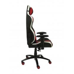 Silla gaming Graya similpiel negro y rojo