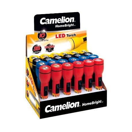 Expositor LED Homebright 24 Linternas 2xAA/R06 Camelion