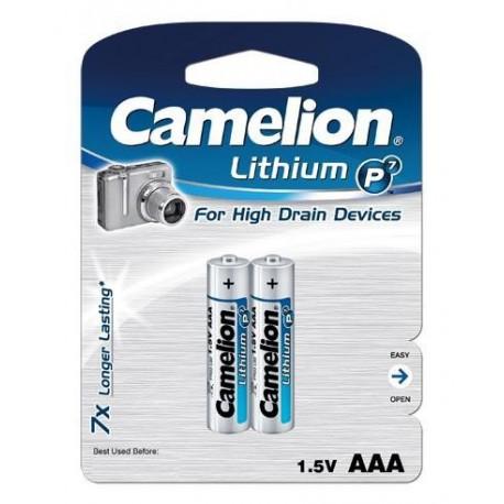 Litio AAA 1.5V (2 pcs) Camelion