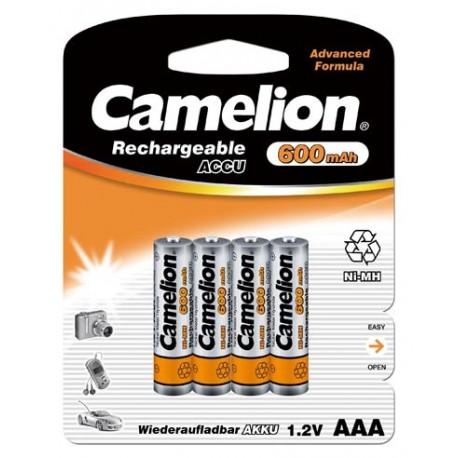 Recargable AAA 600mAh (4 pcs) Camelion