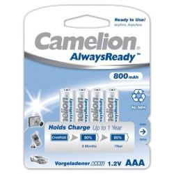 "Recargable ""Always Ready"" AAA 800mAh (4 pcs) Camelion"