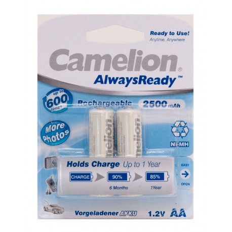 "Recargable ""Always Ready"" AA 2500mAh (2 pcs) Camelion"