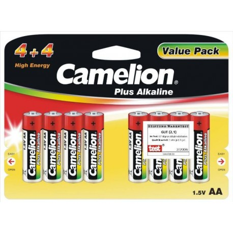 Plus Alcalina AA 1.5V (4+4 pcs) Camelion