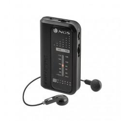 RADIO CON AURICULARES PORTATIL NGS NEGRA AM/FM VINTAGE / SINTONIA Y VOL. CON RUEDA / COMPACTA CODEKNOCK