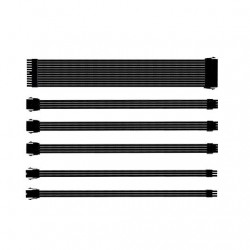 KIT EXTENSION CABLES COOLER MASTER NEGRO MALLADOS/1X 24PIN/1X 4+4PIN/2X 6PIN/2X 8PIN/30CM CMA-SEST16XXBK1-GL