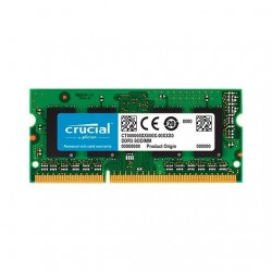 MODULO S/O DDR3 4GB PC1600 CRUCIAL SINGLE RANKED CL11/NON ECC/1.35V CT51264BF160BJ
