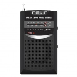 Radio nevir bolsillo nvr-136 negro