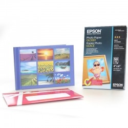 Pack papel epson s042547 + album