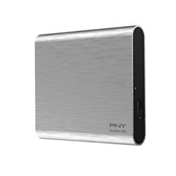 DISCO DURO EXTERNO SOLIDO HDD SSD PNY PRO ELITE CS2060 PLATA 250GB USB TYPE-C 3.1 GEN 2 - PSD0CS2060S-250-RB