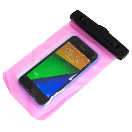 Bolsa impermeable rosa Smartphone