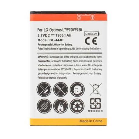 Bateria LG L7/P700/P750/ L5 II / L4 II / 1900mAh LI-ION