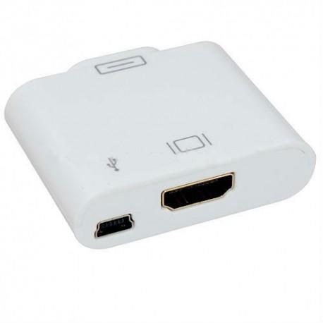 Conector HDMI+MiniUSB - IPAD/IPHONE/IPOD