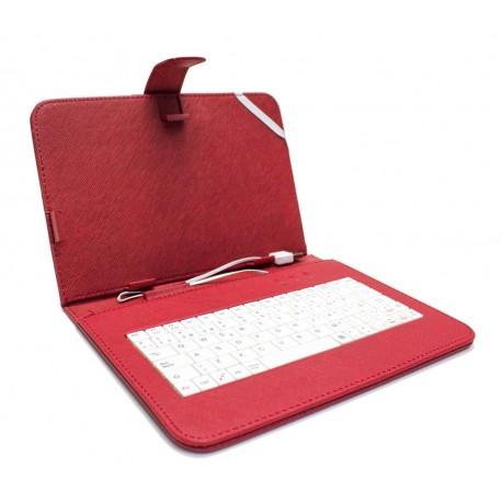 """Funda Tablet Teclado 8"""" Roja"""