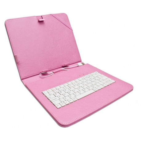 "Funda Tablet Teclado 8"" Rosa"