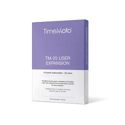 TimeMoto - Pack expansión 25 usuarios para software TM Cloud y TM Cloud+ Safescan - Suscripción anual