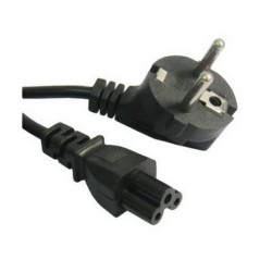 Nanocable - Cable alimentacion trebol - CEE7 - ACODADO/M-C5/H - 1.5m