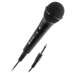 NGS - Microfono Singer Fire - Jack de 6.3MM - Boton On/Off - Compatible con altavoces Wild