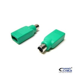 Nanocable - Adaptador USB a PS/2 - conexión USB-A/H a PS/2/M