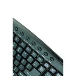 Talius - Teclado 838 - QWERTY - Multimedia - Conexión USB - Negro