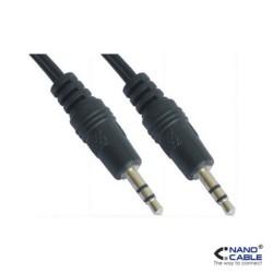 Nanocable - Cable audio estereo de 1,5m conexión jack 3.5/M-3.5/M - Para monitores, proyectores, pizarras, etc