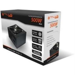 Talius - Fuente de alimentación ATX 500W 2 Molex - 4 SATA - 1 Floppy - Aux 4 - Cable incluido - Color negro