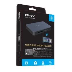 PNY - Lector de tarjetas inalabrico - Lectura SD + USB - Powerbank 2000mAh - Hasta 5 dispositivos