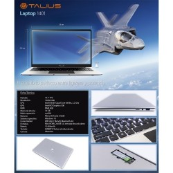 Talius - Portatil LAP-1401 - Intel N3450 2.2Ghz/4GB/32GB+M2/MicroSD hasta 512Gb/Graficos IntelHD/WIFI/BT/MiniHDMI