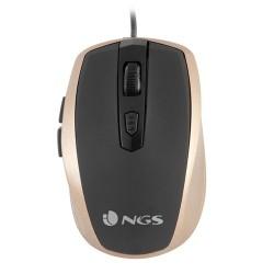 NGS - Raton Tick Gold Raton 800/1600DPI - 6 botones - USB