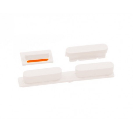 Set Botones iPhone 5C Blanco