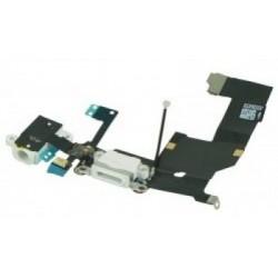 Conector Blanco Carga + Audio Flex iPhone 5