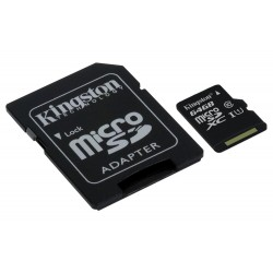 MEM MICRO SD 64GB KINGSTON CL10 GEN2 Y ADAPT SD