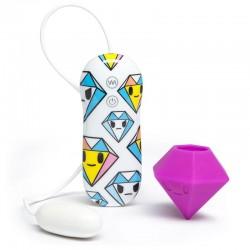 tokidoki 10 Function Silicone Estimulador Vibrador Clítoris Diamante Lila