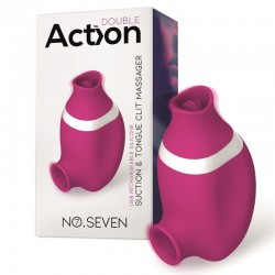 No. Seven 2 en 1 Succionador de Clítoris y Lengua Estimuladora USB Silicona
