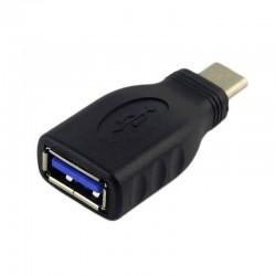ADAPTADOR USB TIPO-C AISENS A108-0323 NEGRO - USB 3.1 - OTG - COMPATIBLE CON THUNDERBOLT 3