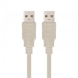 CABLE USB 2.0 NANOCABLE 10.01.0303 - CONECTORES A/M-A/M - 2 METROS - BEIGE